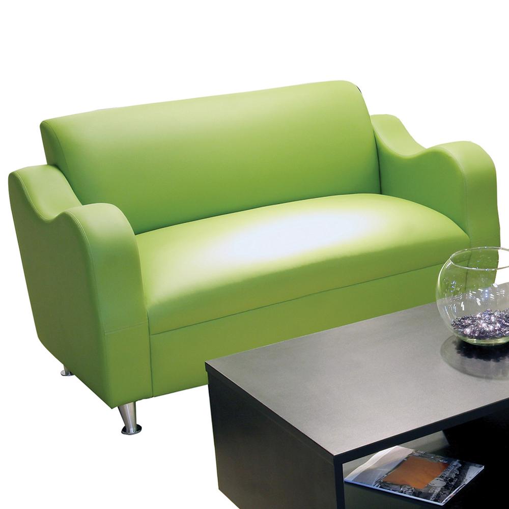 HPFI® Claudia Lounge Seating - Leather Loveseat