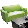 HPFI® Claudia Lounge Seating - Leather Loveseat