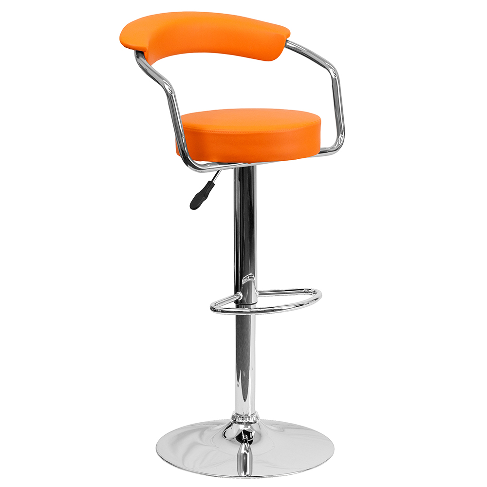 Contemporary Vinyl Cafe Chair w/ Arms