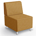 MooreCo® Modular Soft Seating Collection - Armless Chair, Fabric
