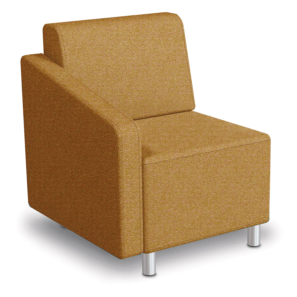 MooreCo® Modular Soft Seating Collection - Right Arm Chair, Fabric