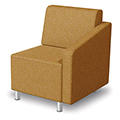 MooreCo® Modular Soft Seating Collection - Left Arm Chair, Fabric