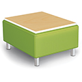 MooreCo® Modular Soft Seating Collection - Bench with Laminate Top, Fabric