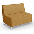MooreCo® Modular Soft Seating Collection - Armless Loveseat, Fabric