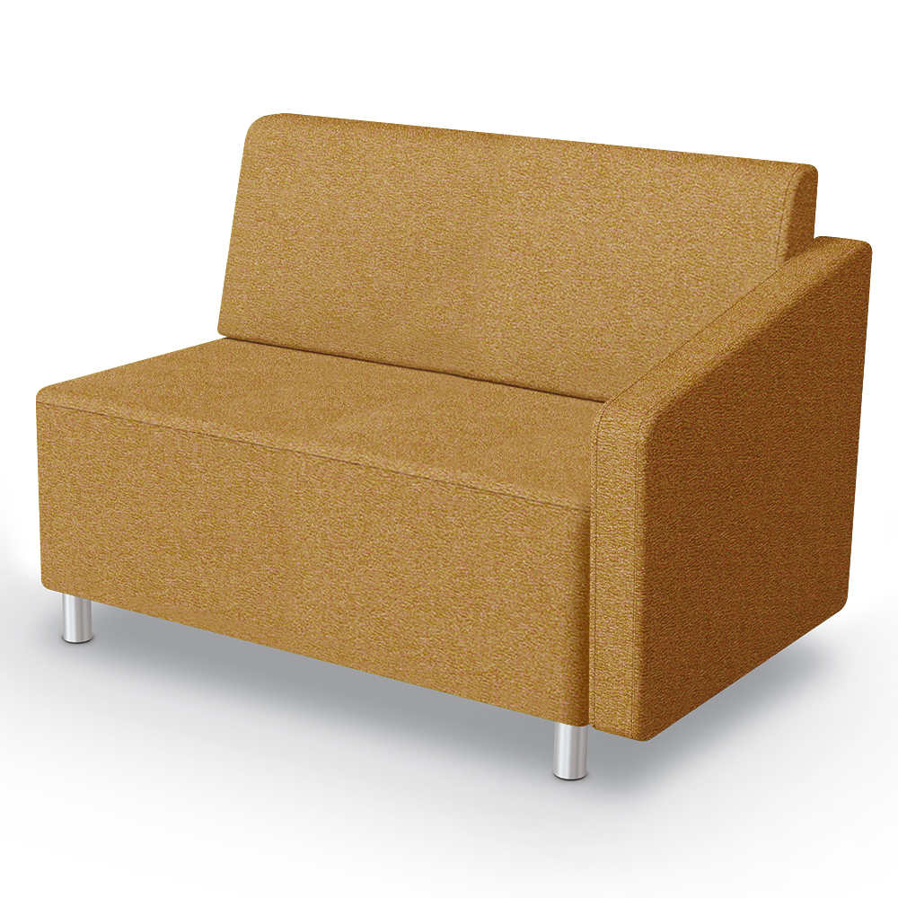 MooreCo® Modular Soft Seating Collection - Left Arm Loveseat, Fabric
