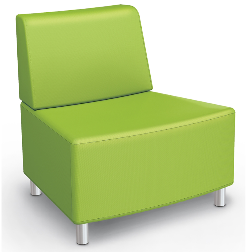 MooreCo® Modular Soft Seating Collection - 22.5° Wedge Outside Armless Chair, Fabric