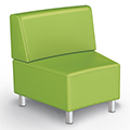 MooreCo® Modular Soft Seating Collection - 22.5° Wedge Inside Armless Chair, Fabric