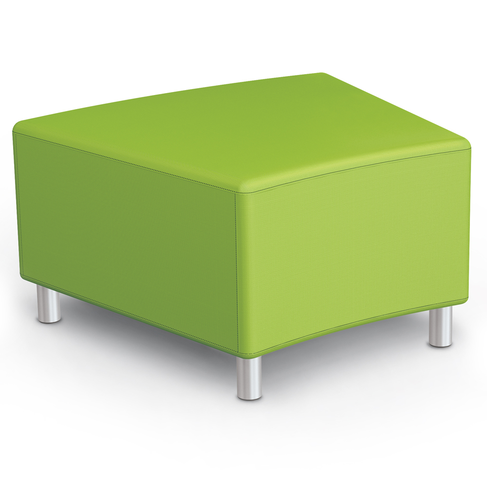 MooreCo® Modular Soft Seating Collection - 22.5° Wedge Bench, Fabric