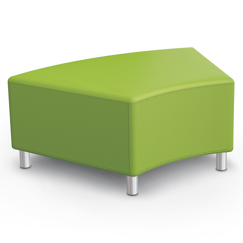 MooreCo®Modular Soft Seating Collection - 45° Wedge Bench, Fabric