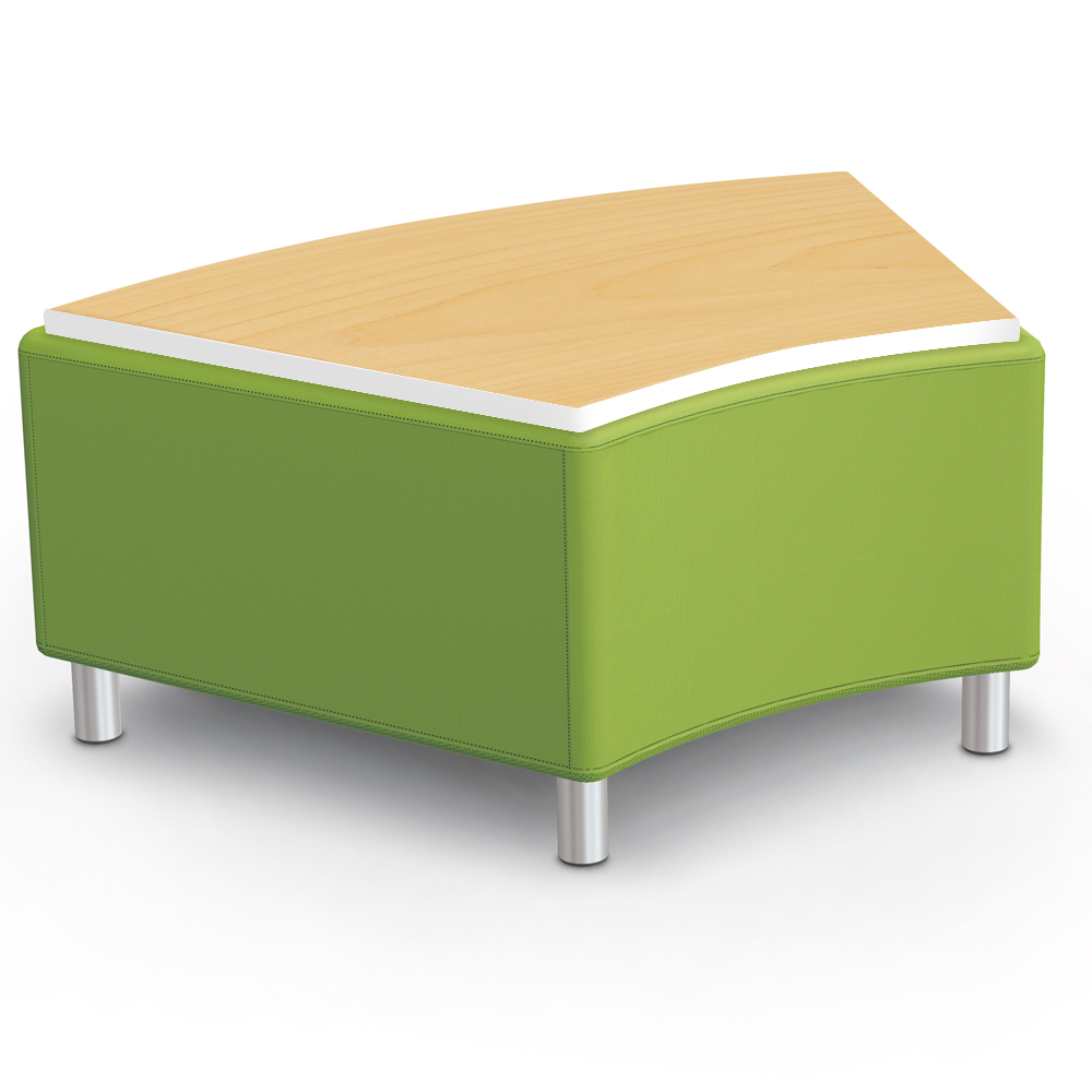 MooreCo® Modular Soft Seating Collection - 45° Wedge Bench with Laminate Top, Fabric