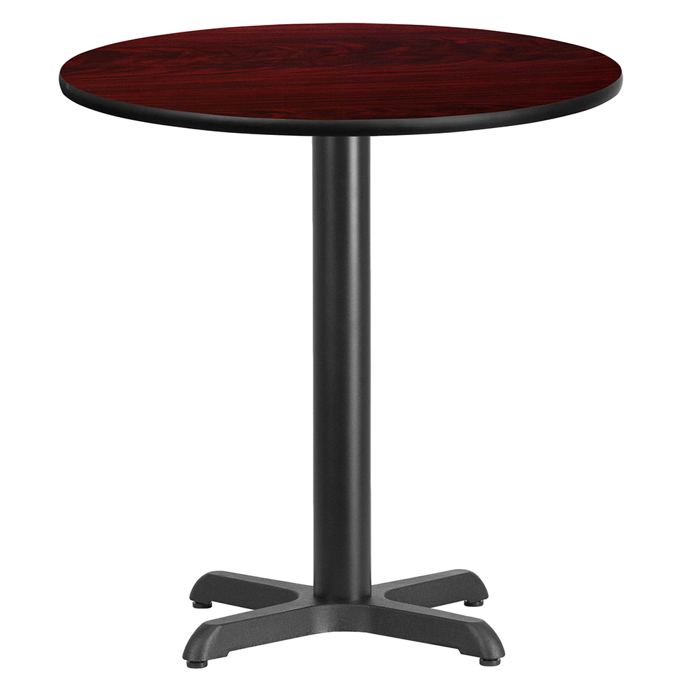 "X-Base Standard Height Cafe Table - 31-1/8""H x 24"" Diameter"