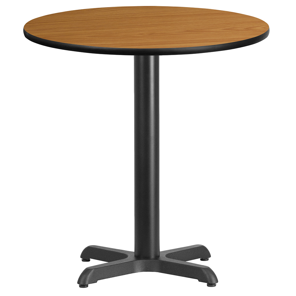 "X-Base Standard Height Cafe Table - 31-1/8""H x 30"" Diameter"