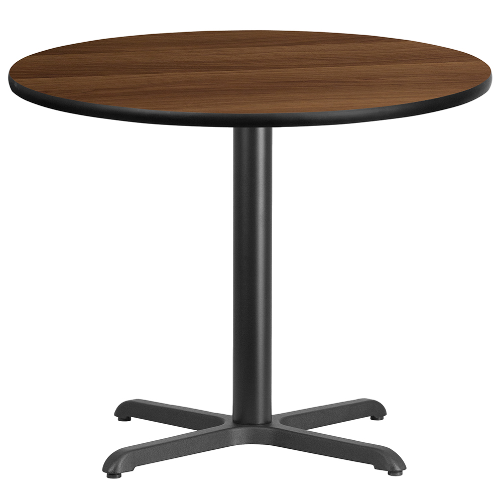 """X-Base Standard Height Cafe Table - 31-1/8""""H x 36"""" Diameter"""