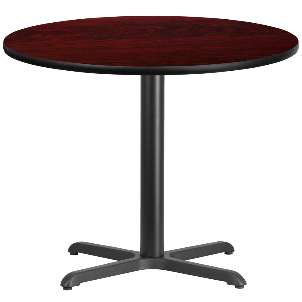 """X-Base Standard Height Cafe Table - 31-1/8""""H x 42"""" Diameter"""