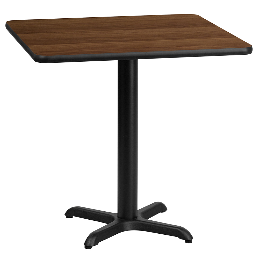"""X-Base Standard Height Cafe Table - 31-1/8""""H x 24"""" Square"""