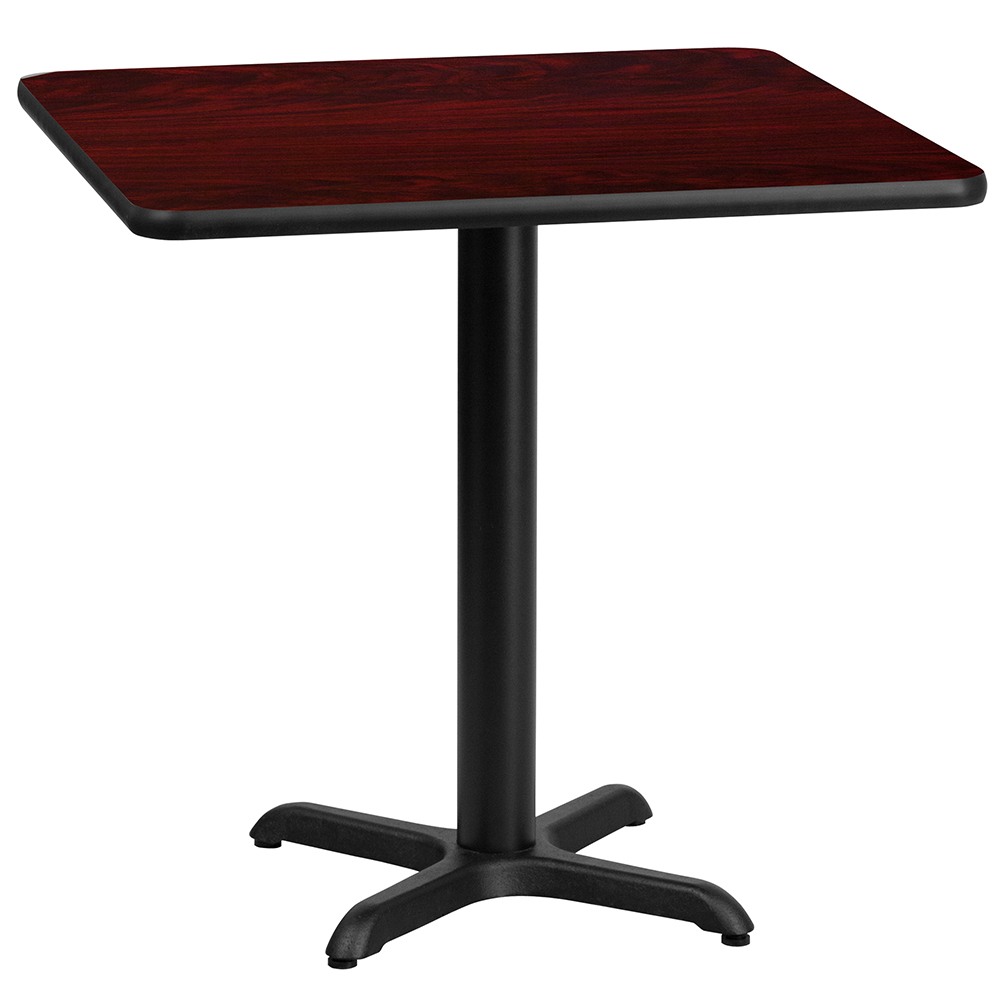 """X-Base Standard Height Cafe Table - 31-1/8""""H x 30"""" Square"""