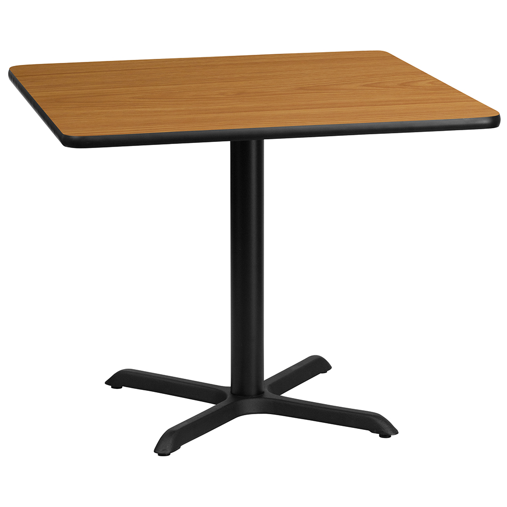 "X-Base Standard Height Cafe Table - 31-1/8""H x 36"" Square"