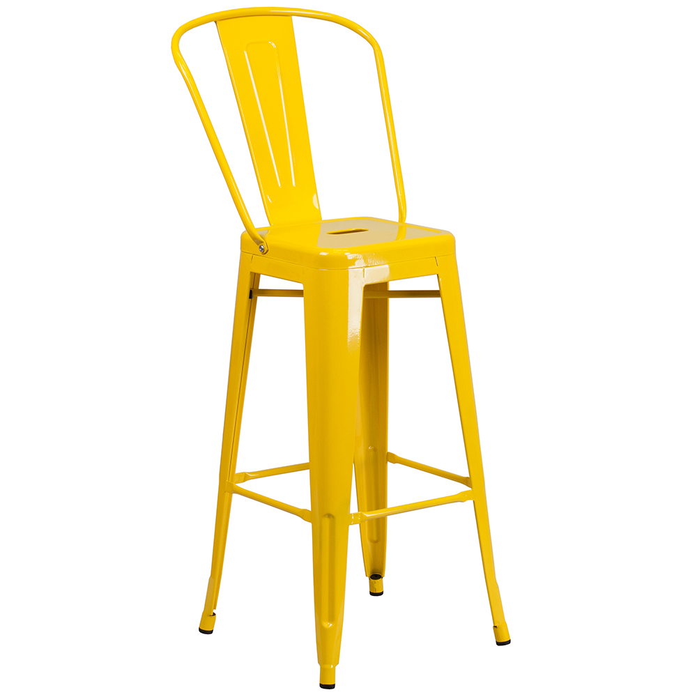 "30"" Metal Indoor/Outdoor Bistro Cafe Chair without Arms Free Shipping!"