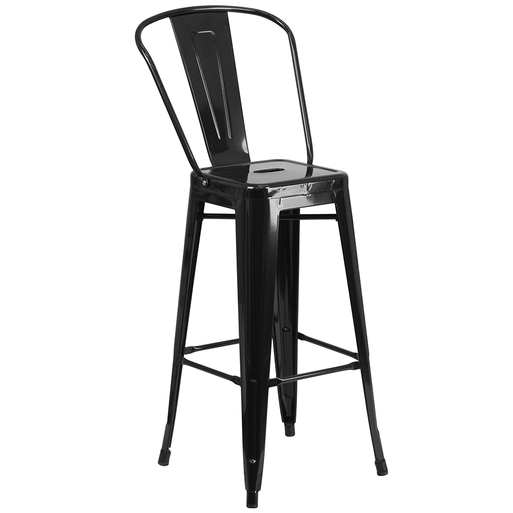 """30"""" Metal Indoor/Outdoor Bistro Cafe Chair without Arms"""