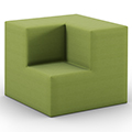 HPFI® Flex Tiered Seating - 2-Tier Inside Facing Corner, Fabric