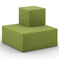 HPFI® Flex Tiered Seating - 2-Tier Outside Facing Corner, Fabric