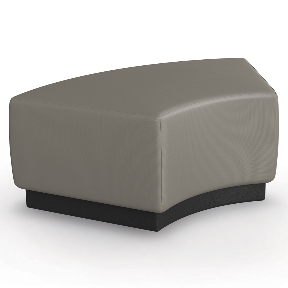 MooreCo® Configurable Soft Seating - Medium Ottoman 60° with Upholstered Seat, Fabric