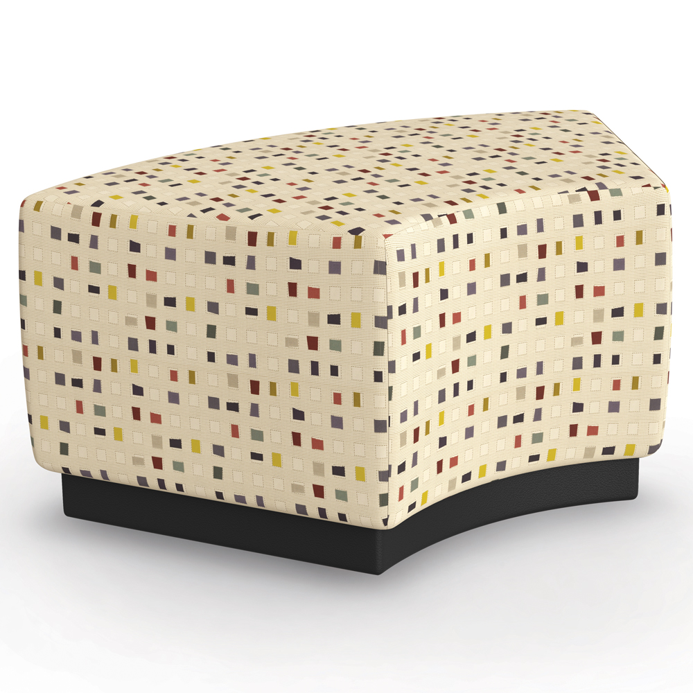 MooreCo® Configurable Soft Seating - High Ottoman 60° with Upholstered Seat, Fabric