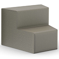 HPFI® Flex Tiered Seating - 2-Tier Inside Facing Wedge, Fabric