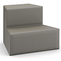 HPFI® Flex Tiered Seating - 2-Tier Outside Facing Wedge, Fabric