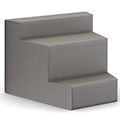 HPFI® Flex Tiered Seating - 3-Tier Inside Facing Wedge, Fabric