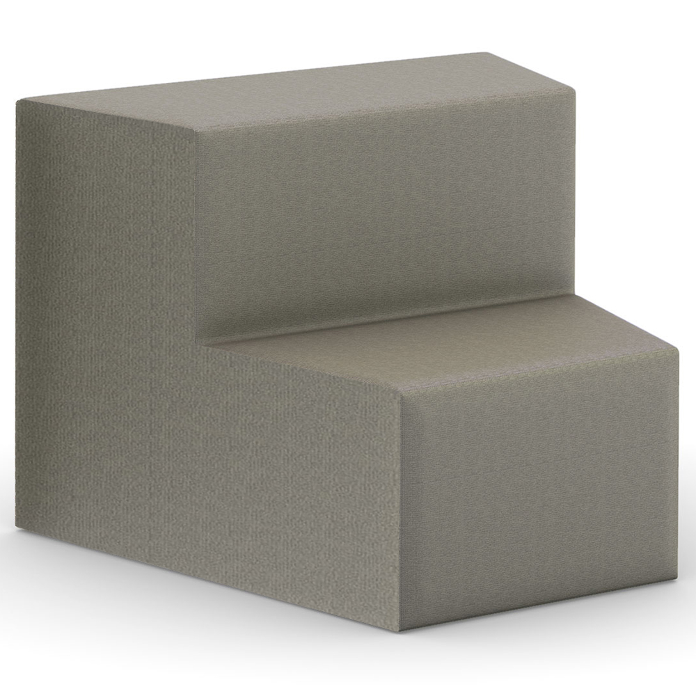 HPFI® Flex Tiered Seating - 2-Tier Inside Facing Wedge, Leather