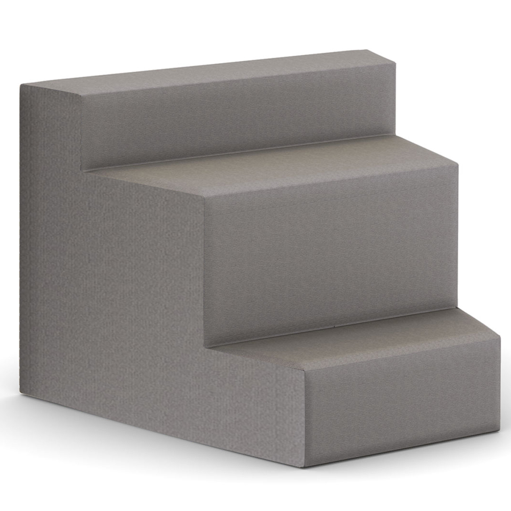 HPFI® Flex Tiered Seating - 3-Tier Inside Facing Wedge, Leather