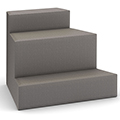 HPFI® Flex Tiered Seating - 3-Tier Outside Facing Wedge, Leather