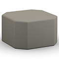 HPFI® Flex Tiered Seating - Octagonal Ottoman, Leather