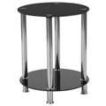 Free Shipping!      Riverdale Glass End Table