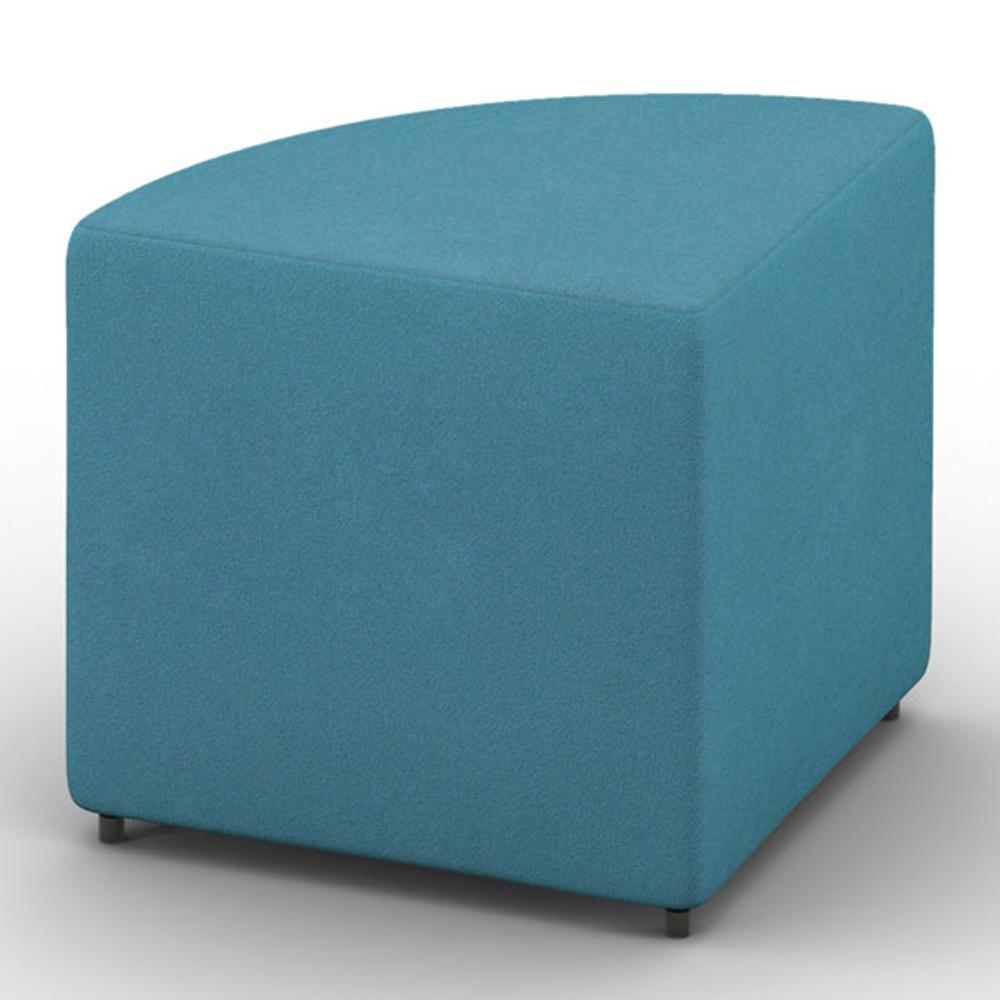 HPFI® Relax Modular Lounge Seating - Quartile Bench/Ottoman, Fabric