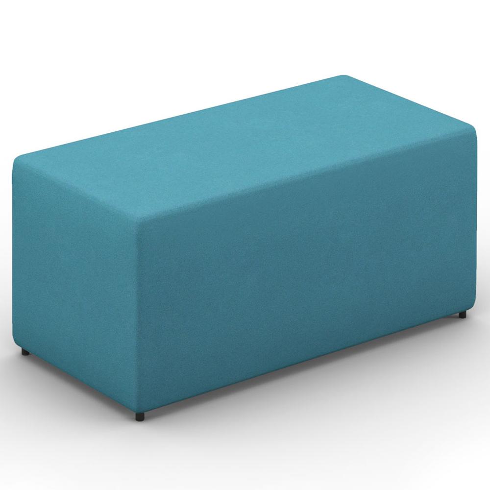 HPFI® Relax Modular Lounge Seating - Two Seat Bench/Ottoman, Fabric