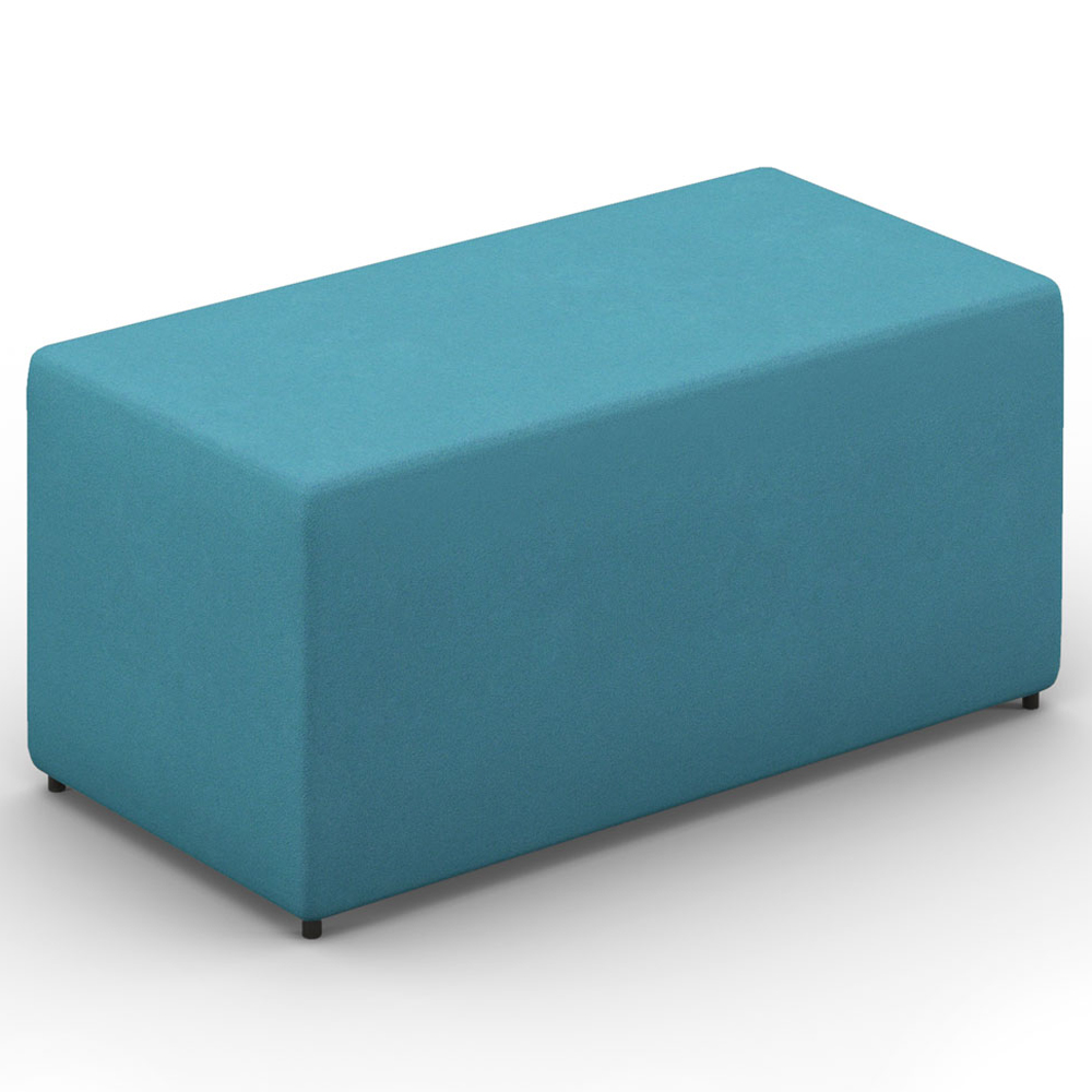 HPFI® Relax Modular Lounge Seating - Two Seat Bench/Ottoman, Leather