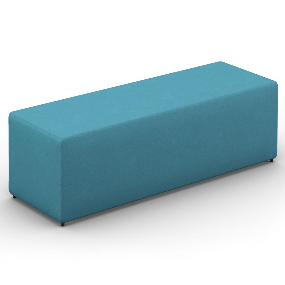 HPFI® Relax Modular Lounge Seating - Three Seat Bench/Ottoman, Fabric