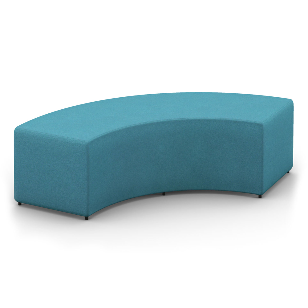 HPFI® Relax Modular Lounge Seating - 90 Degree Arc Bench/Ottoman, Leather