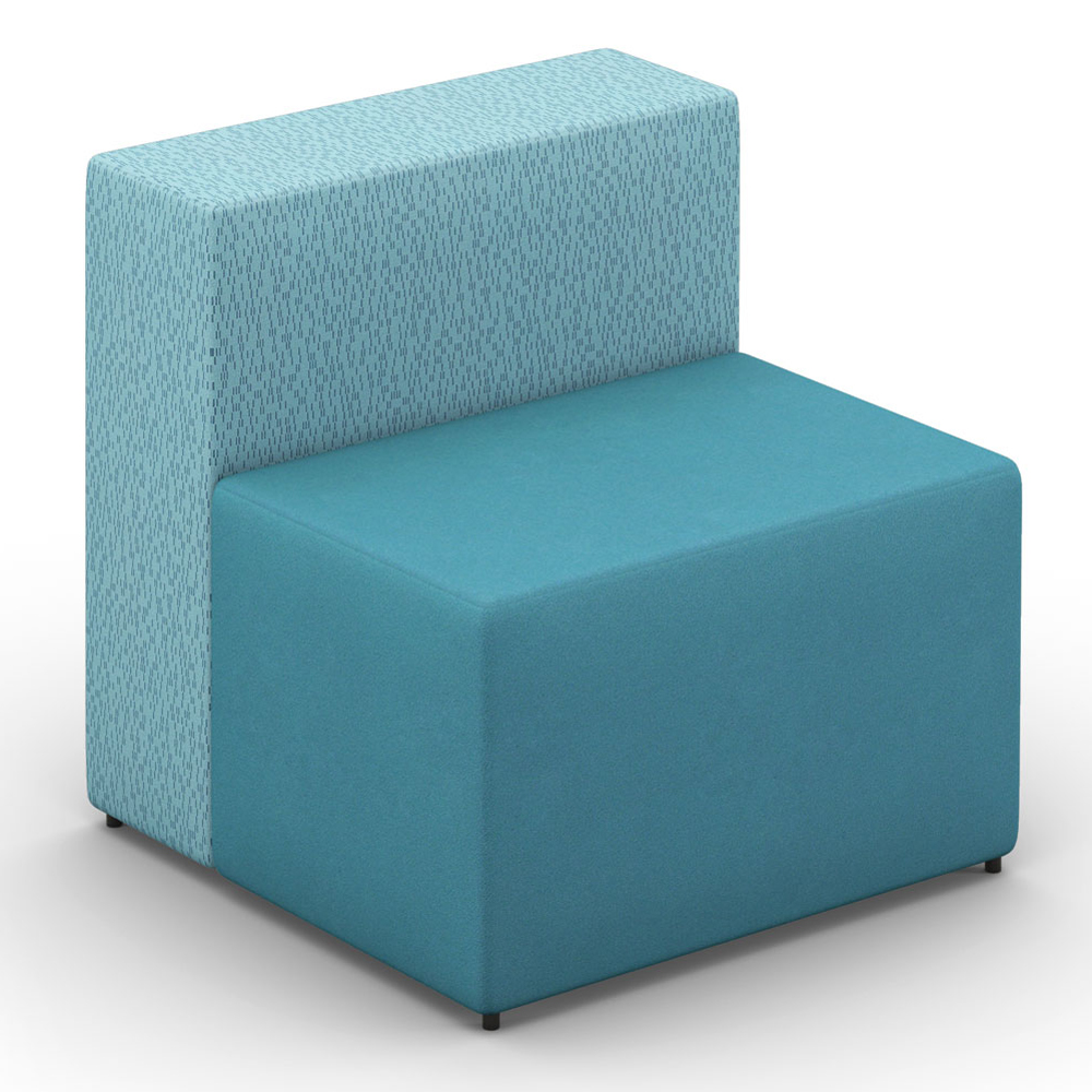 HPFI® Relax Modular Lounge Seating - One & One Half Seat Chair, Fabric