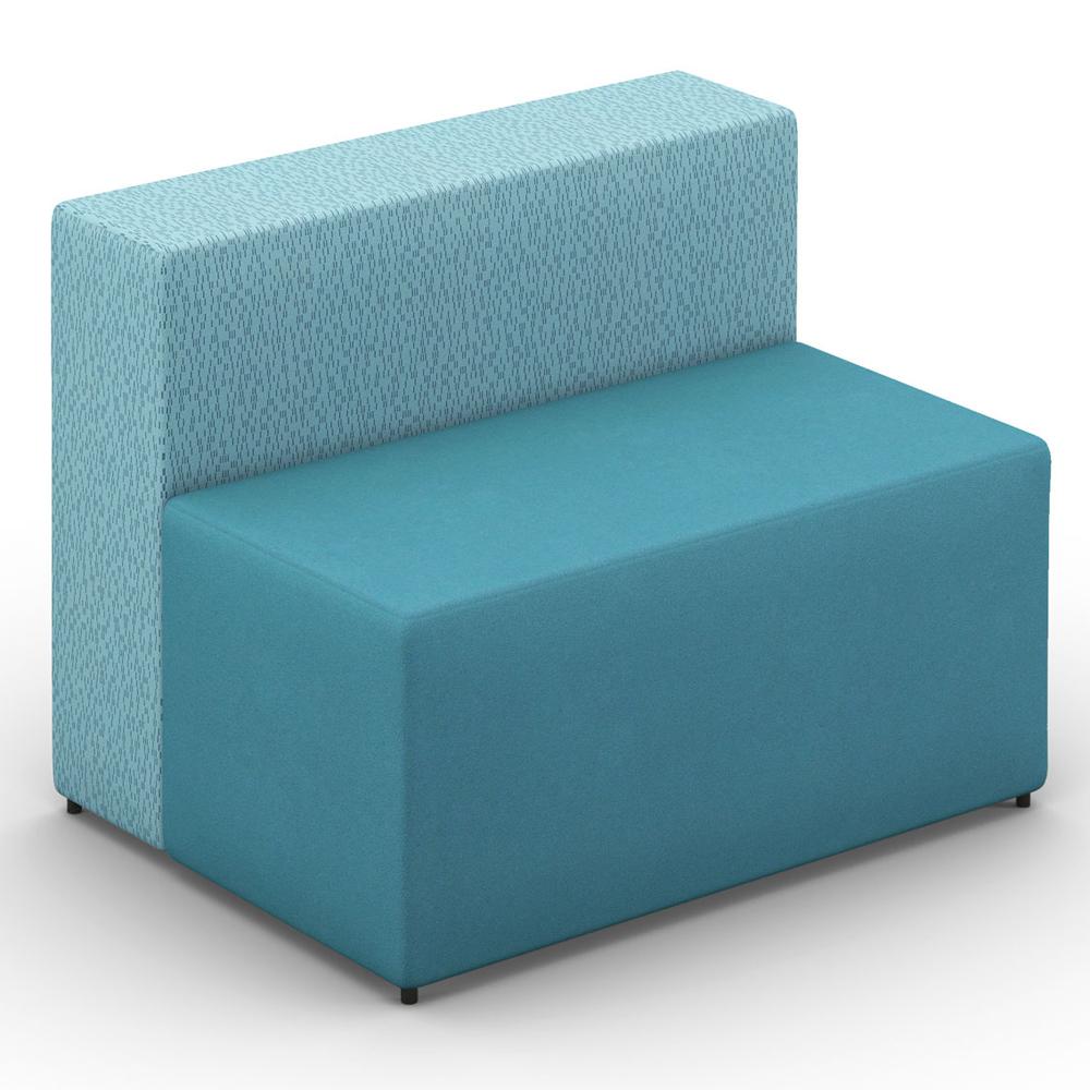 HPFI® Relax Modular Lounge Seating - Two Seat Chair, Leather