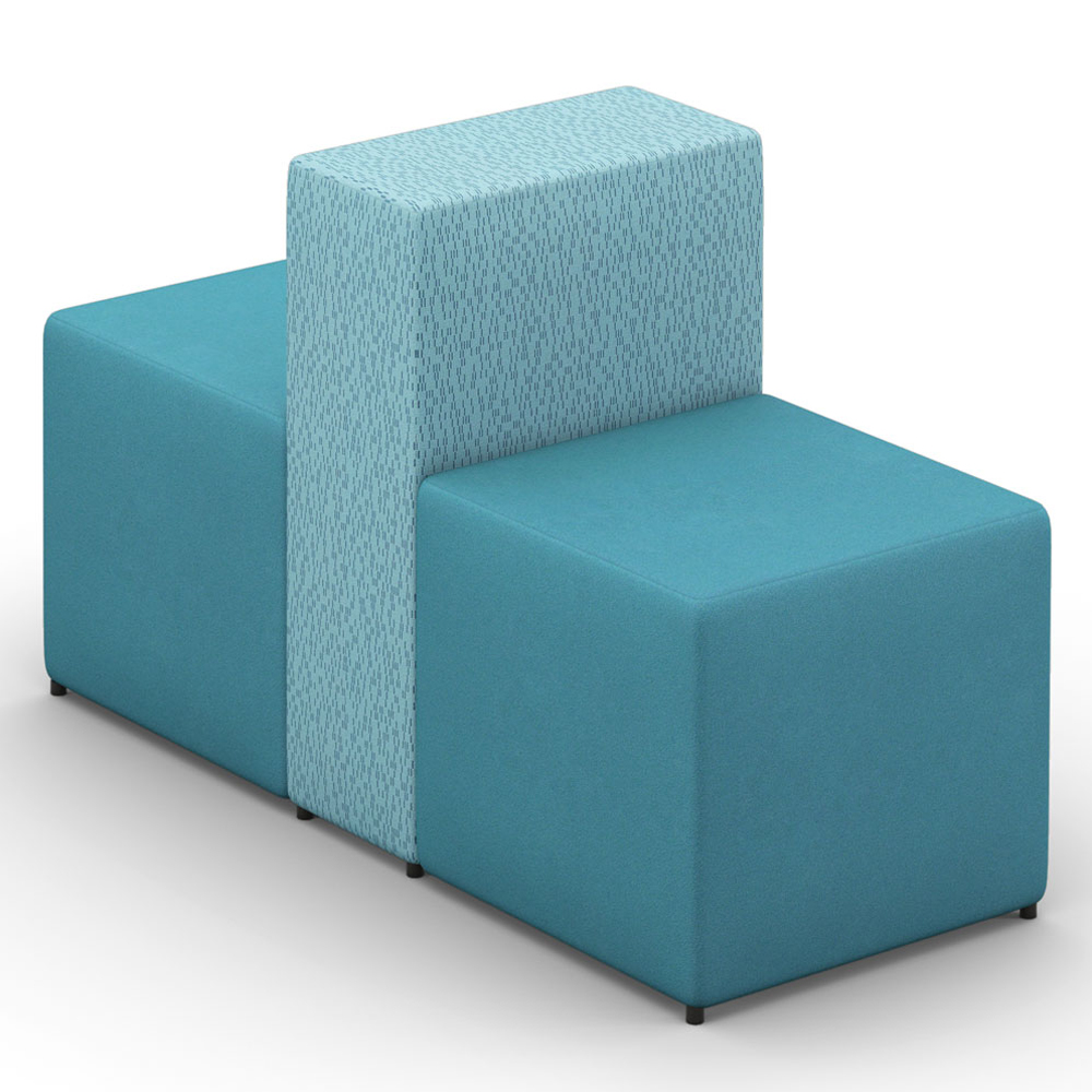 HPFI® Relax Modular Lounge Seating - Two Sided, One Seat Chair, Fabric