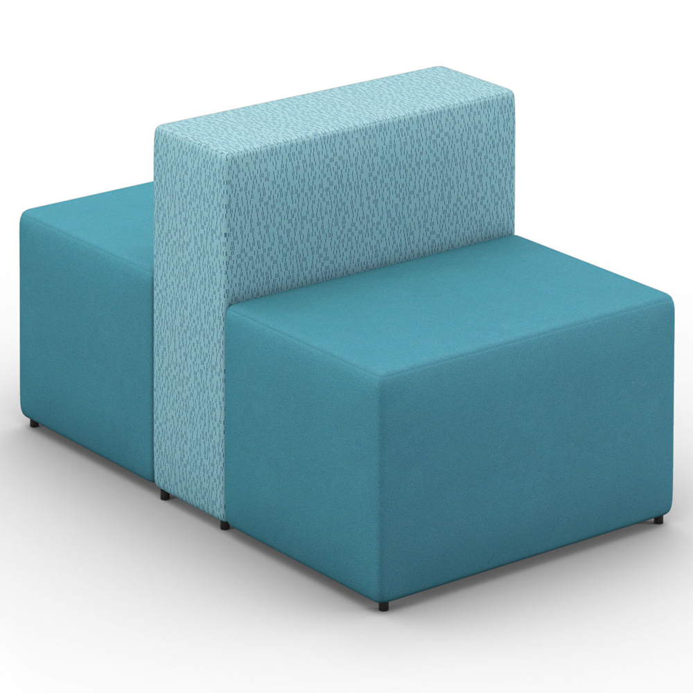 HPFI® Relax Modular Lounge Seating - Two Sided, One & One Half Seat Chair, Fabric