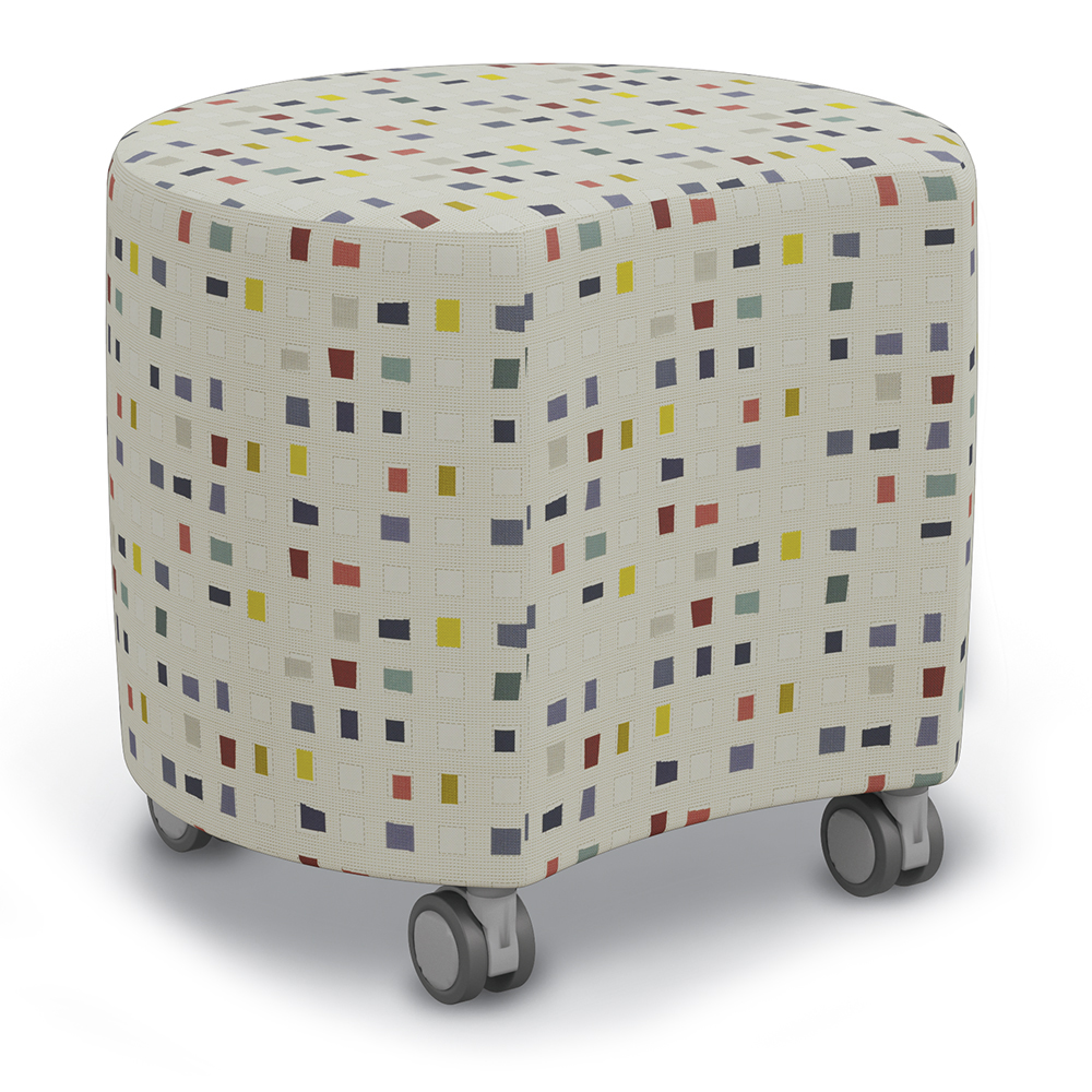 """Best-Rite® Blossom Seating - 18""""H x 16"""" Diameter Stool with Casters"""