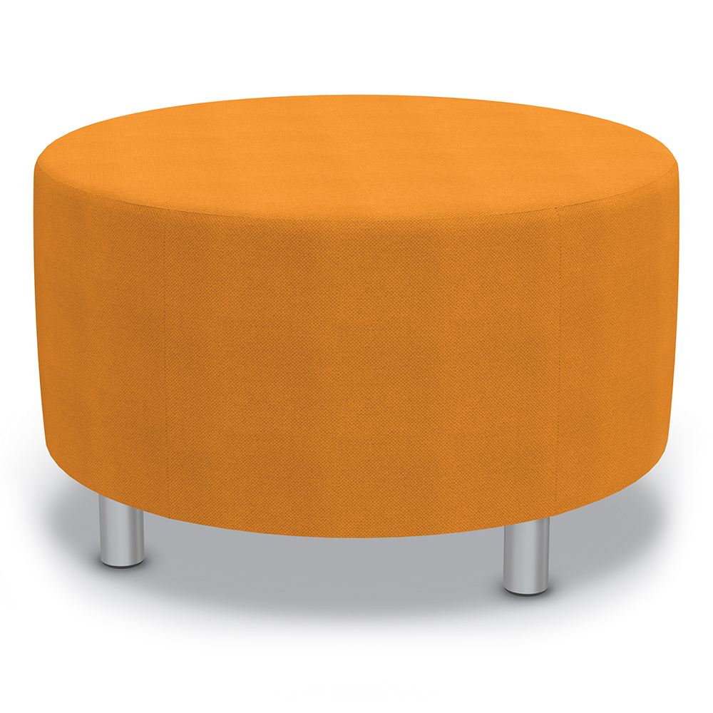 """Best-Rite® Blossom Seating - 18""""H x 30"""" Diameter Ottoman with Legs"""