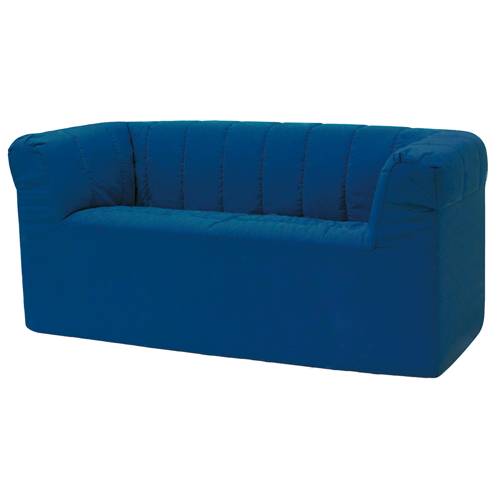 """HABA® After School Lounge Seating - 18""""H 2-Seater Sofa, Synthetic Leather"""