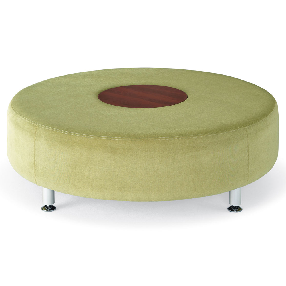 HPFI® Accompany Curved Lounge Seating - Round Table/Ottoman, Fabric