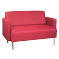 HPFI® Eve Lounge Seating - Arm Loveseat, Fabric