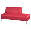 HPFI® Eve Lounge Seating - 2/3 Back Left Armless Sofa, Fabric